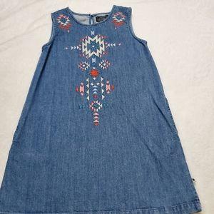 Lucky Brand Girl's casual denim sleeveless dress